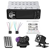 Car MP5 Player Kit, 4.1 Inch TFT HD Bluetooth Car MP5 Player Car Stereo Single Din FM Radio Player FM Radio AUX TF USB Remote Control, 4022D (With Camera)