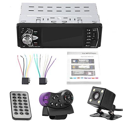 Auto MP5 Player, 4,1 Zoll HD Bluetooth Freisprecheinrichtung Auto MP5 Player Videowiedergabe FM Radio AUX-Speicherkarte USB-Fernbedienung(mit Kamera)