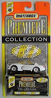MATCHBOX FREMIERE COLLECTION SERIES 5 LIMITED 1 OF 25000 EDITION WHITE DODGE VIPER RT/10