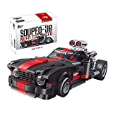 Lishiguli Building Block Toy TechIncs Speed  Champions Auto Building Blocks, 1: 24 650 Piezas de Juguete Deportivo de Deportes Compatible con Lego Ford Mustang