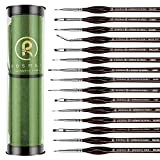 Rosmax Acrylic Paint Brushes Set Series X 15PCS Miniature Paint Brushes, Fine Detailing for Acrylics, Oils, Watercolors & More, Nylon Hair