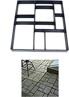 Gooteff Walk Path Maker Mould Reused DIY Pavement Lawn Concrete Form Pathmate Stepping Stone Moulds for Garden Court Yards Patios Walks 15.75in x 15.75in (Style F)