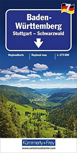 Baden-Württemberg 1 : 275.000 mit touristischen Informationen und Index, wasserfest (Kümmerly+Frey Reisekarten)