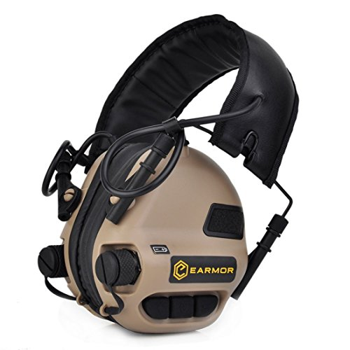 opsmen Sport geräuschverstärkung Gunshot Geräuschunterdrückung Gehörschutz Elektronische Weiche Ohrenschützer Kopfhörer M31Serie, unisex, beige