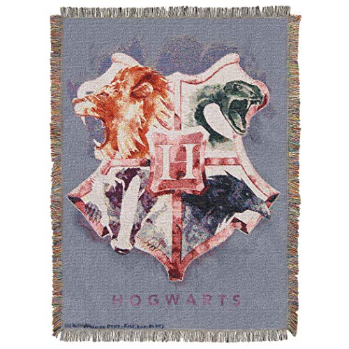 Harry Potter Woven Tapestry Throw Blanket, 48 x 60 Inches, Houses Together
