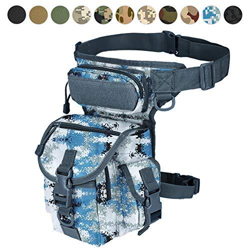 Sac à jambière militaire tactique avec accessoire de cuisse pour paintball Airsoft moto équitation Thermite Versipack Noir/tan/vert armée/camouflage7 couleurs, Marine Digital