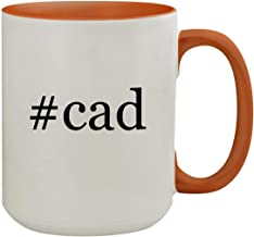 #cad - 15oz Hashtag Colored Inner & Handle Ceramic Coffee Mug, Orange