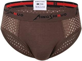 Enerhu Men Modal Underwear Low Rise Briefs with Mesh Male Stretch Panties