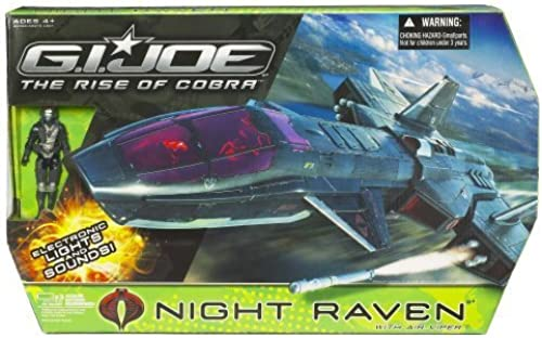 Gi Joe Movie 3.75 Echo Vehicle Night Raven with Air Viper by Hasbro