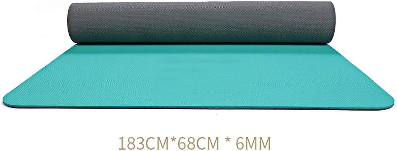 HBJP Yoga-Matte weibliche Rutschfeste Verdickung verbreitert Lange TPE Yoga-Fitnessmatte Herren Anfnger Dual-Use-Matte Yogamatte (Farbe   D)