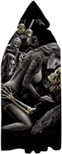 PATTY-WG-BRUN Mari-lyn Monroe Unisex Hooded Cloak Christmas Halloween Cosplay Costume Party Long Cape White
