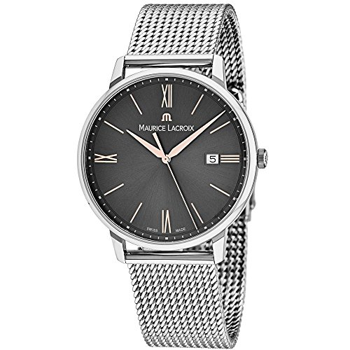 Maurice Lacroix Herren Analog Quarz Uhr mit Edelstahl Armband EL1118-SS002-311-1