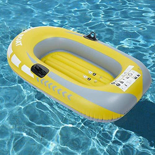 Barca da Pesca Gonfiabile, 250 kg capacità di carico in PVC Canoa Gonfiabile Due Persona KA con Corda per Sport Acquatici Nuoto Piscina Piscina Pesca Drifting Drift Uso BJY969 (Color : 1 Person)