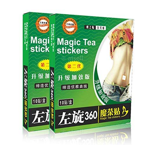 Ardorlove 10 stks/doos magische thee Stickers buik knop gewichtsverlies plakken skinny taille patch slapende Stickers vet branden afslanken gips B
