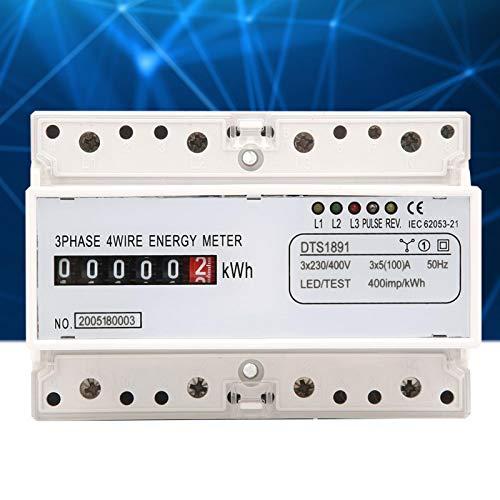 Medidor elétrico trifásico, medidor de Kwh do tipo trilho DIN de fácil instalação, para suprimentos industriais Meça a rede elétrica CA