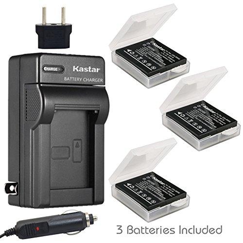 Kastar Battery 3X + Charger for Panasonic Lumix CGA-S005 CGA-S005A/1B CGA-S005E CGA-S005GK DMW-BCC12 & Panasonic Lumix DMC-LX1 / DMC-LX2 / DMC-LX3 and Ricoh WG-M1 DMC-FX1 DMC-FX180 DMC-LX1 DMC-LX3