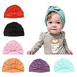 Baby Hat 6 Unids Recién Nacido, 100% Algodón Súper Suave, Elastico Stretch...