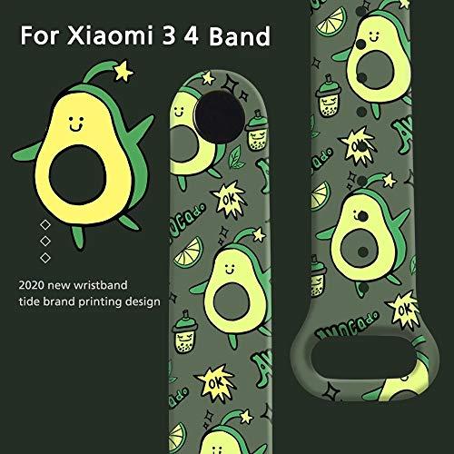 LETEASE Correas para Xiaomi Mi Band 4 Mi Band 3, Pulsera Reloj Silicona Banda Compatible con Xiaomi Mi Band 4/3, Personalizados Correa de Pulsera Repuesto para Xiaomi Smart Band 3 4 (3 Piezas)