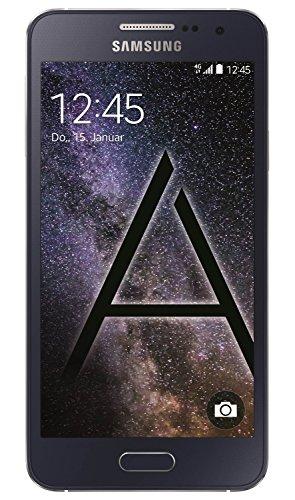 Samsung Galaxy A3 - Smartphone libre Android (pantalla 4.5', cámara 8 Mp, 16 GB, Quad-Core 1.2 GHz, 1.5 GB RAM), negro- Versión Extranjera