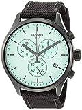 Tissot Men's Chrono XL Stainless Steel Swiss Quartz Sport Watch with Nylon Strap, Black, 22 (Model: T1166173709100)