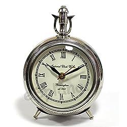 eSplanade - 7 Metal Vintage Clock | Classic Retro Clock, European Style Vintage Table Clock Desk Clock | Clocks for Home | Time Piece | No Alarm Feature.