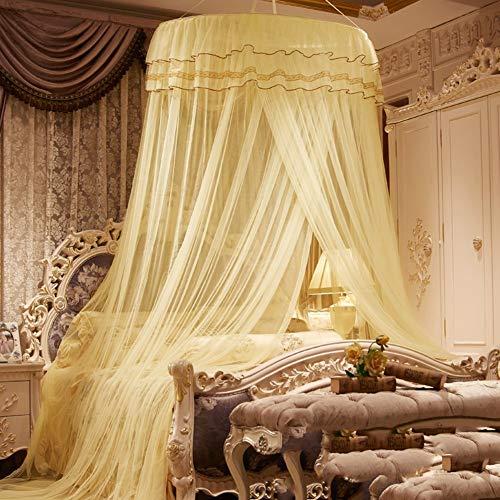 Willlly Dome klamboe prinses bed Casual Chic Baldakijn spiegel tent Encrypte B grote grootte mediterrane stijl zachte decoratie Size Kleur: zwart/bruin,