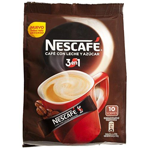 Nescafé 3 en 1 - Café Soluble con Leche y Azúcar - 9