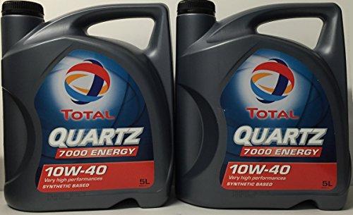 Total Lubricante Motor Quartz 7000 Energy 10W-40 10 litros (2x5 litros)