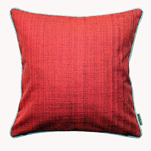 Kamaca Outdoor Kissenbezug Kissenhülle Garden - das perfekte Kissen für drinnen und draußen fleckabweisend witterungsbeständig knitterfrei (rot - meliert, Kissenhülle 40x40 cm)
