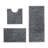 AinDen Alfombra de baño, Absorbente Antideslizante, Alfombra de baño de Microfibra esponjosa, alfombras de Ducha de Chenilla Suave Absorbente de Agua
