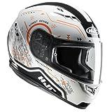 Casco moto HJC CS 15 SAFA MC7, Bianco/Oroange, L
