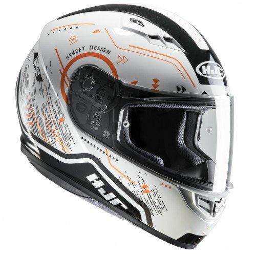Casco moto HJC CS 15 SAFA MC7, Bianco/Oroange, M