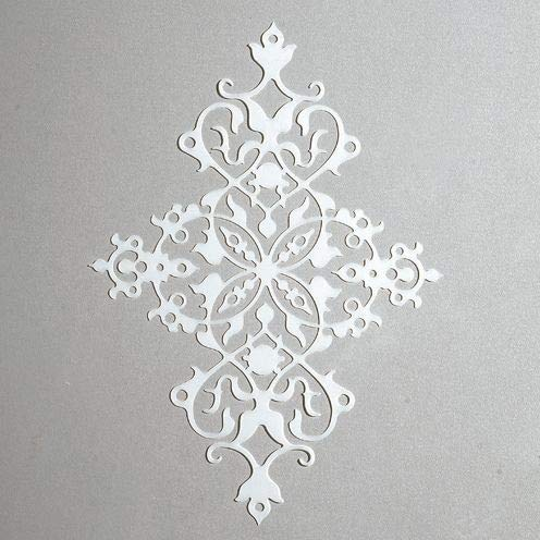 efco – Stencil Ornament/1 Design, Kunststoff, transparent, 15 x 21 cm