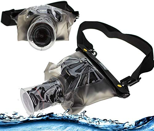 Navitech Transparent DSLR SLR Waterproof Underwater Housing Case/Cover Pouch Dry Bag Compatible with TheCanon EOS 77D