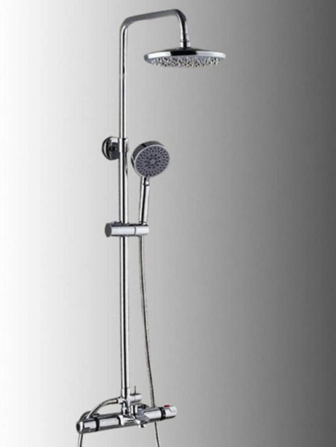 R&Y Shower Faucet Set Thermostatic Shower Faucet Set Mixer Valve Set Install The Box Mixing Valve Handheld Bathroom Fold The Faucet Bath Shower Set