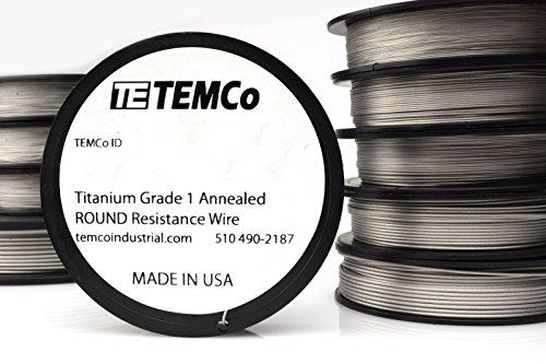 TEMCo Titanium Wire 20 Gauge Surgical Grade 1 Resistance AWG ga