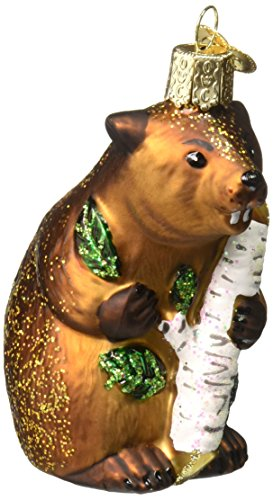 Old World Christmas Wildlife Animals Glass Blown Ornaments for Christmas Tree Eager Beaver