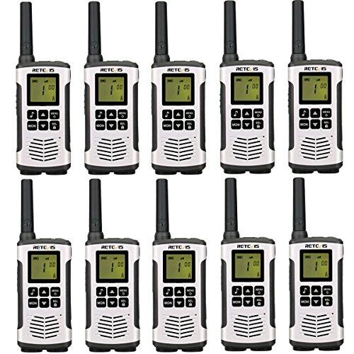 Retevis RT45 Walkie Talkie Licentievrij PMR446 VOX 16 Kanalen Portofoons Dual Watch Oplaadbare Walkietalkie (10 stuks)