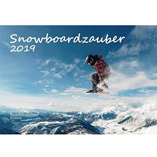 Snowboardmagie · DIN A4 · Premium kalender 2019 · Sport · Wandelen · apparatuur · Top · Bergen · besteigung · Snowboard · Set 1 wenskaart, 1 kerstkaart · Edition Zelmagie