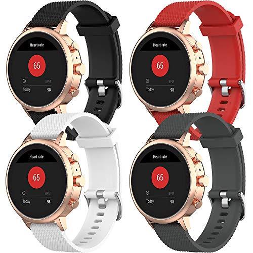 18mm Correa de Rápida Pulsera de Reloj Silicona Liberación Reemplazo Correa para Garmin Vivoactive 4S/Vivomove 3S/Huawei Watch/Huawei Fit/Withings Activité/Nokia Health Watch/Fossil Gen 3 Q Venture