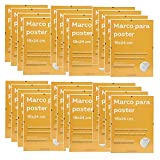Nacnic Conjunto de 24 Marcos Transparentes de Clip Soportes Transparentes para Fotos, Posters, Diplomas, Dibujos o láminas. Tamaño 18x24cm. Marcos Clip Transparentes con plexiglas