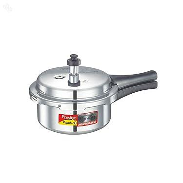 Prestige Popular Plus Induction Base Pressure Cooker, 2 Litres, Silver
