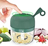Prensa ajos Eletric Seasoning Masher BPA Free Spice Chopper Carga USB Mini Molinillo de ajo eléctrico portátil Prensa de alimentos Cortador de verduras Frutas Nueces Pimienta Cebolla verde