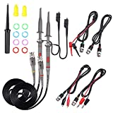 Universal Oscilloscope Probe with Accessories Kit 100MHz Oscilloscope Clip Probes with BNC...
