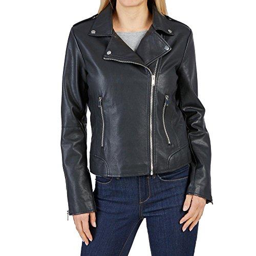 Vila Clothes Vicara Faux Leather Jacket-Noos Chaqueta, Negro (Black Black), 42 (Talla del Fabricante: X-Large) para Mujer