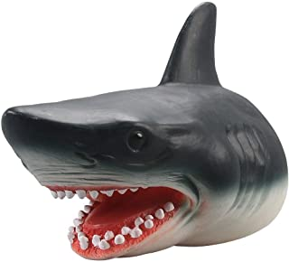 SKEIDO Shark Hand Puppet Dolphin Hand Puppet Kids Soft Rubber Realistic White Shark Role Play Toy