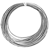 QUACOWW 1 mm x 20 m marco de fotos alambre de metal alambre de acero inoxidable carrete de imagen alambre para espejo reloj arte trabajo