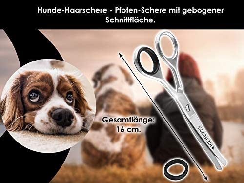 Fur scissors, paw scissors, bent, dogs hair, with micro-toothing 4