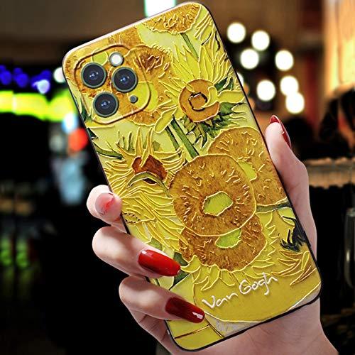 Carcasa para iPhone Coque Apple iPhone 11 Pro 7 8 6 S 6S 7Plus 12 Mini Xs Max Funda para iPhone X Xr 7 8 Plus 5 5S SE 2020 Art Black Cases