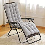 Parkland Sun Lounger Cushions, Garden Furniture Cushions - Portable Garden Patio Thick Padded Bed Recliner Relaxer Chair Seat Cover for Travel/Holiday/Indoor/Outdoor (Grey)